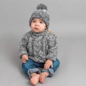 Gray Tweed Baby & Toddler Sweater