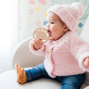 Blush Pink Baby Cardigan Sweater