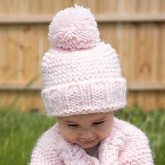 Blush Pink Beanie Hat