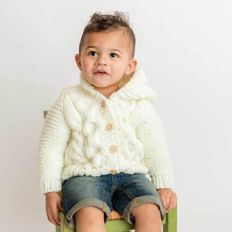 Hooded Cream Coat Sweater