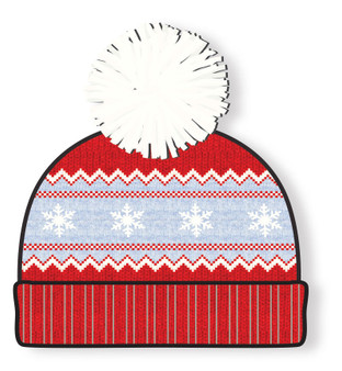 Red Knit Baby Beanie Hat