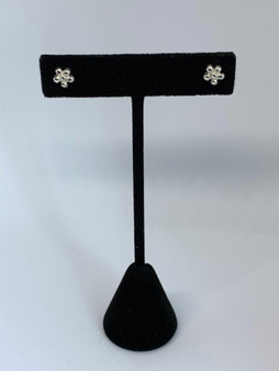 Tiny Flower Silver Post Earrings