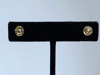 Tiny Spiral Brass Post Earrings