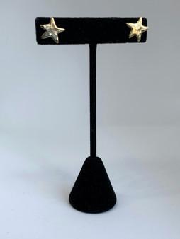 Brass Star Post Earrings