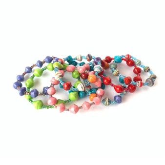 Child's Paper Beaded Bracelet
