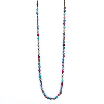 Single Strand Maasai Paper Bead Necklace