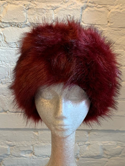 Red Tone Faux Fur Hat