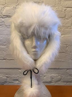White Faux Fur Trapper Hat