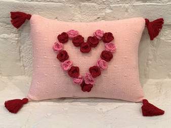 Flower Heart Pillow