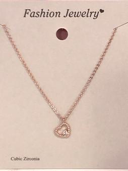 Tiny Sparkling Heart Necklace