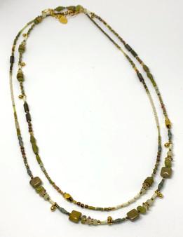 Long 18K Vermeil Designer Necklace