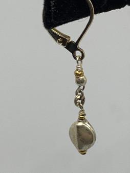 Silver Plate Lever Earrings