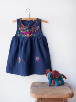 Navy Jardinita Dress