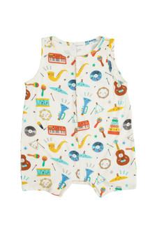 Happy Music Shortie Romper
