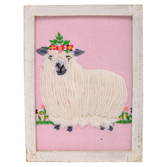 Wonder Sheep Embroidery Art