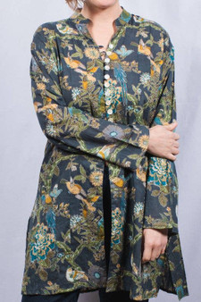 Oriental Bird Pattern Tunic