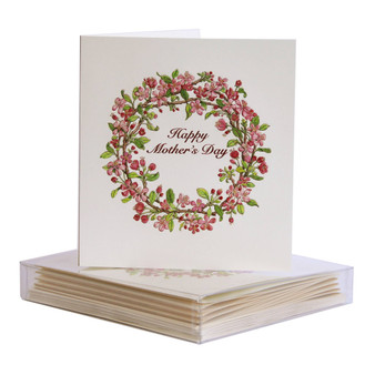 Floral Blossom Wreath Mother's Day Card