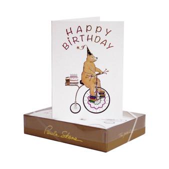 Bear on Bicycle Birthday Card