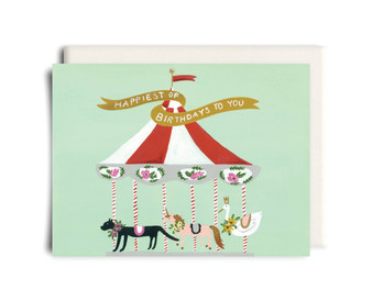 Carousel Birthday Card
