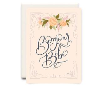 Bonjour Bebe Card