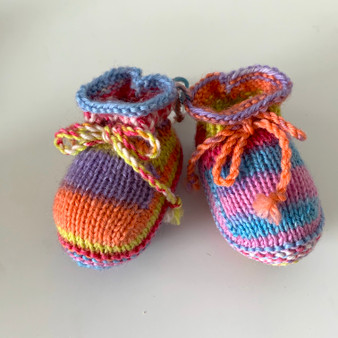 Multi-Colored Booties - 3-6 mo