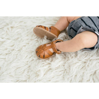 Baby Moccasin Sandal – Brown