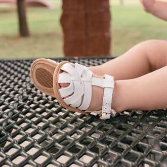 Baby Moccasin Sandal – White