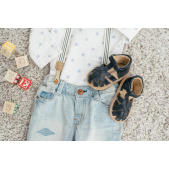 Baby Moccasin Sandal – Navy