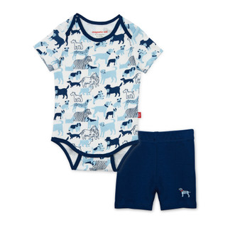 Best In Show Organic Cotton Bodysuit & Short Set
