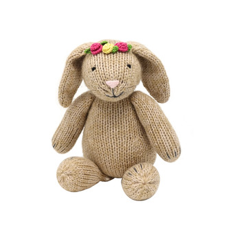 Brown Bunny with Flower Headpiece