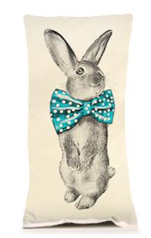 Bunny Bowtie Pillow