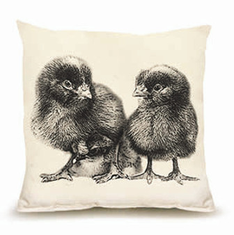 Two Baby Chicks Pillow