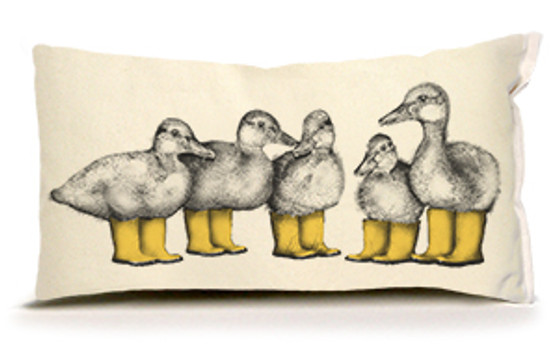 Ducks with Boots Pillow
