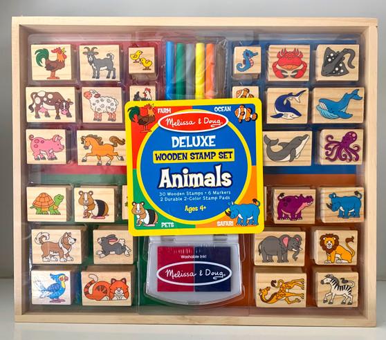 Delux Animal Wooden Stamp Set