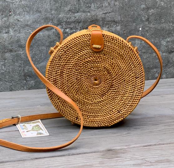 Round Ata Grass Handbag