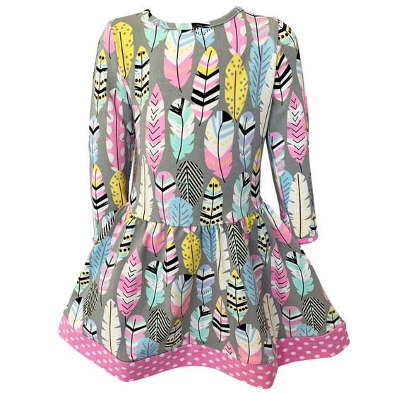 Boutique Feather Dot Dress