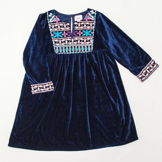 Navy Velvet Banjara Dress
