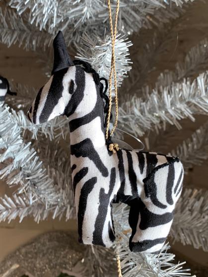 Zebra Ornament from Uganda