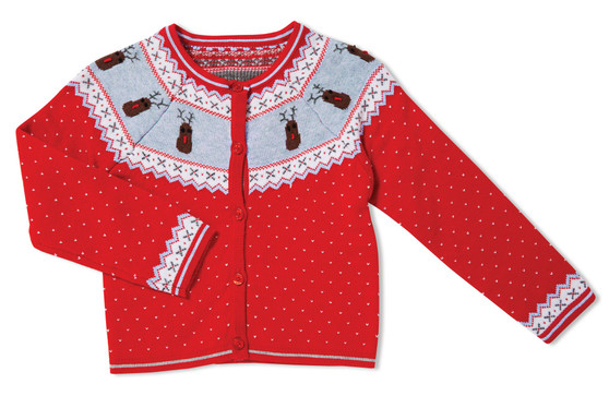 Red Knit Baby Sweater