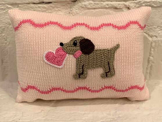 Valentine Puppy Mini Pillow