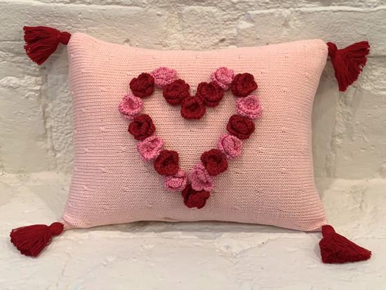 Flower Heart Pillow