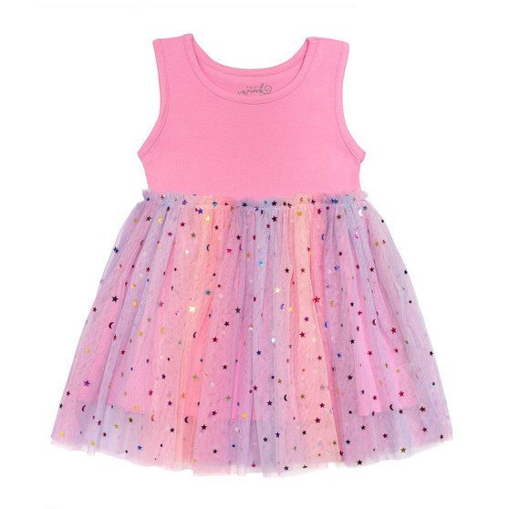 Magical Sleeveless Tutu Dress - Pink
