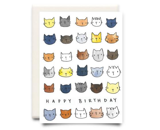 Happy Birthday Cats Card