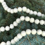 White Felt Holiday Garland Balls