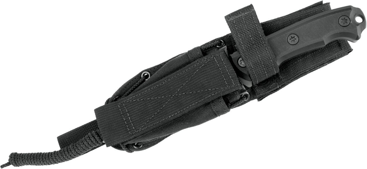 """Zero Tolerance Model 0180 Rick Hinderer Fixed 4.2"""" Vanadis 4 Steel Blade, Black G10 Handle"""