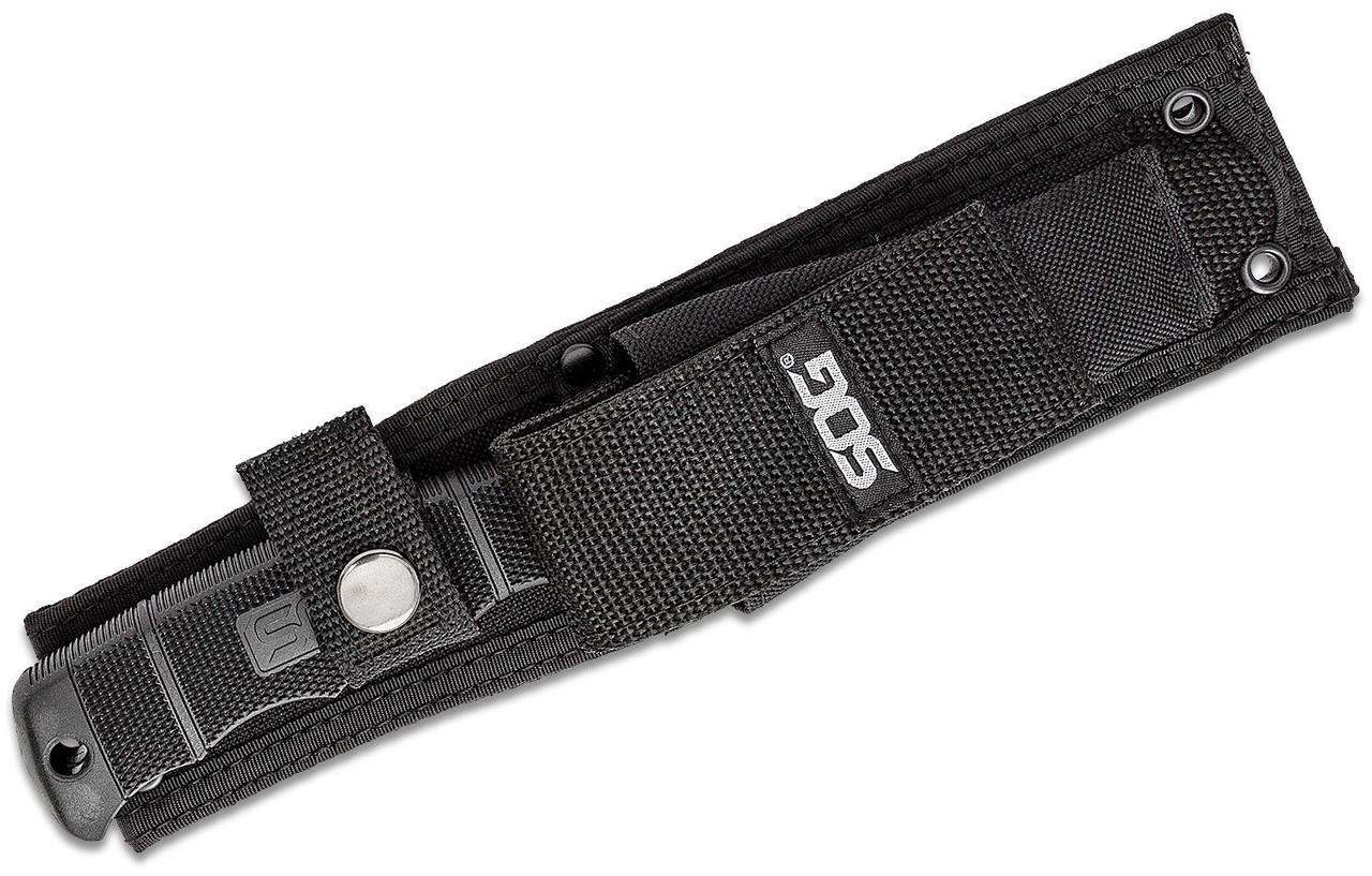 "SOG SEAL Pup Elite Fixed 4.85"" Black Tini Plain Blade, GRN Handle, Nylon Sheath - E37SN-CP (SOGE37SN-CP)"