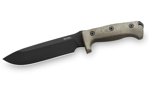 LionSTEEL M7: the biggest sporting knife by lionSTEEL - Green canvas