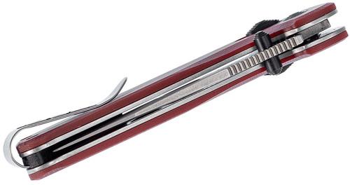 "SOG Terminus XR Flipper Knife 2.95"" Stonewashed D2 Clip Point Blade, Crimson G10 Handles - XR Lock - TM1023-BX"