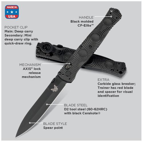BENCHMADE 391BK THOMPSON SOCP Tactical Folder