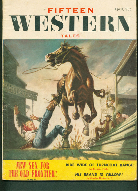 Fifteen Western Tales, April 1955